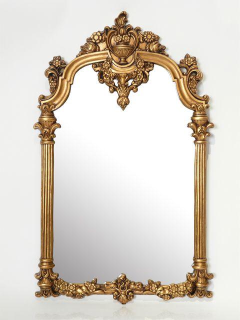 【ロココ調の装飾豊かなフレーム】ロココ調ミラー ゴールドフレームミラー(品番:VMR678) - アンティーク調ソファ・白家具を中心とした店舗什器ならビビアンドココ