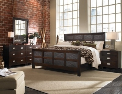 Cool Loft...  Imperial View Bedroom King Panel Bedroom by West Brothers