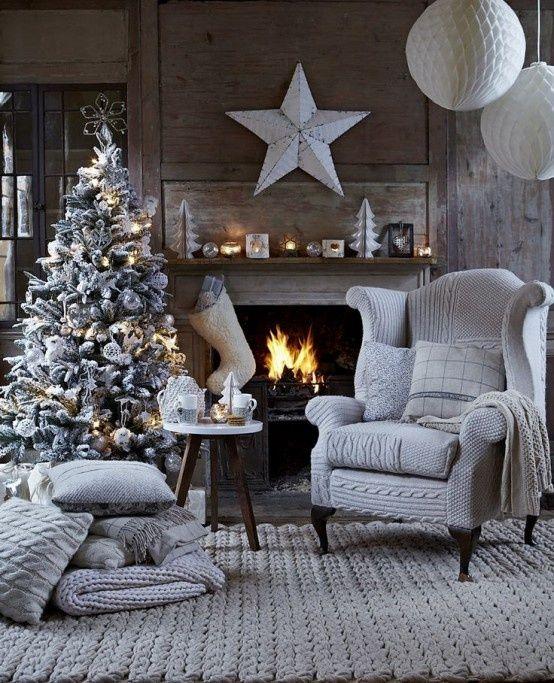 hangulatos szürke karácsonyi otthon