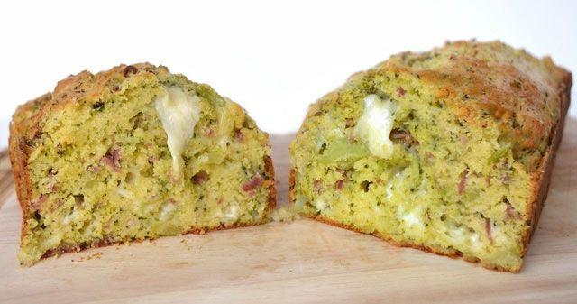 Cake salé au brocoli, jambon et mozzarella avec Thermomix, recette d'un savoureux cake salé, facile et simple à faire, à servir en entrée avec une salade ou en apéritif.