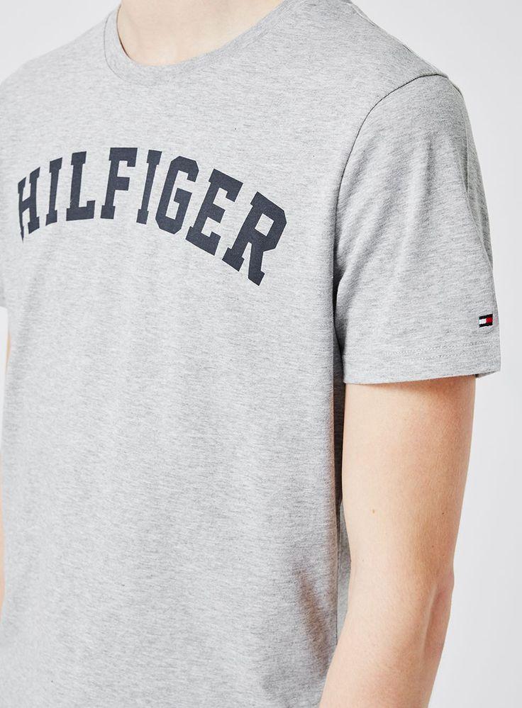TOMMY HILFIGER Grey Logo Loungewear T-Shirt - Men's Loungewear & Joggers - Clothing - TOPMAN
