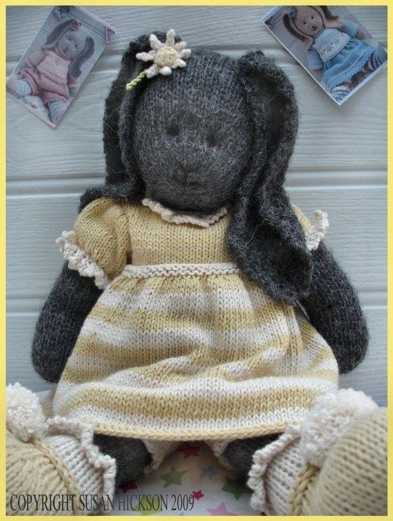 DAISY Rabbit / Bunny/ Toy Knitting Pattern/ by maryjanestearoom, $4.90
