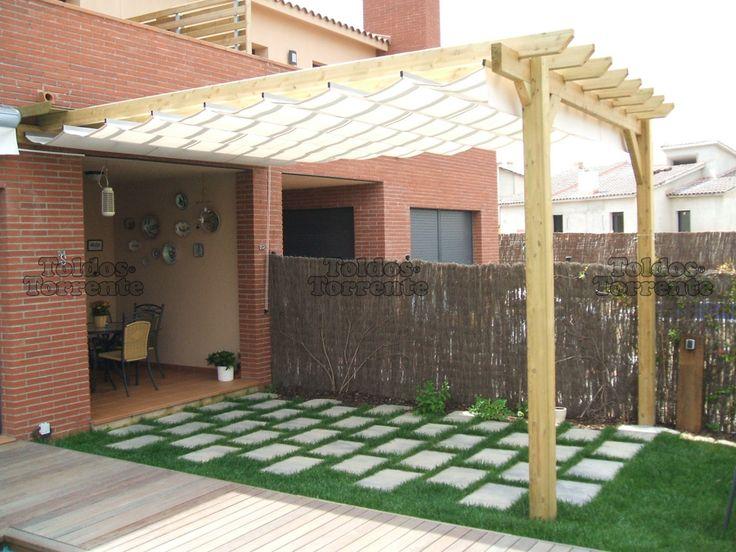 As 25 melhores ideias de toldos para pergolas no pinterest for Toldo horizontal terraza