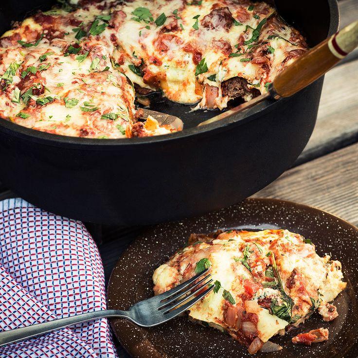 Dutch oven old-school lasagne   Pasta recipes   SBS Food
