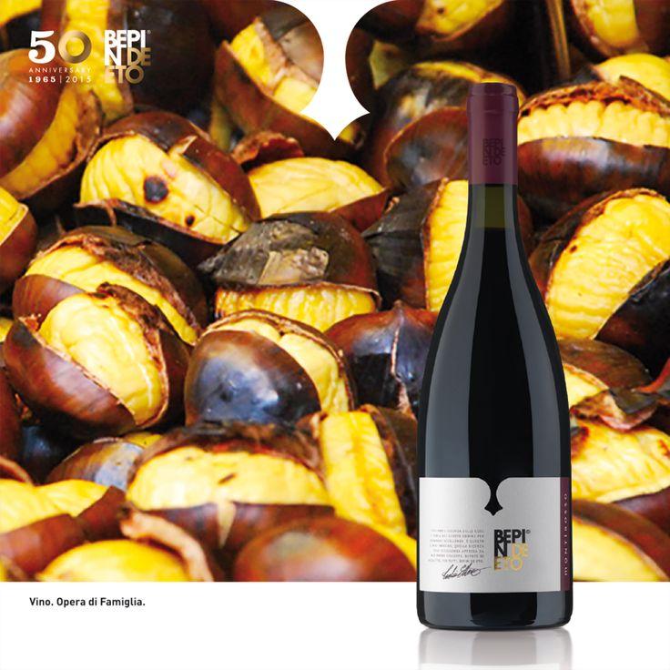 BEPIN DE ETO   Caldarroste e vino rosso: abbinamento perfetto per coccolarsi nei giorni più freddi! #Montirosso #Bepindeeto Roast chestnuts and red wine: a perfect match to snuggle yourself on the coldest days! #Montirosso #Bepindeeto