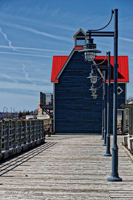I love walking down to the riverfront boardwalk along the Petitcodiac river, Moncton, New Brunswick, Canada