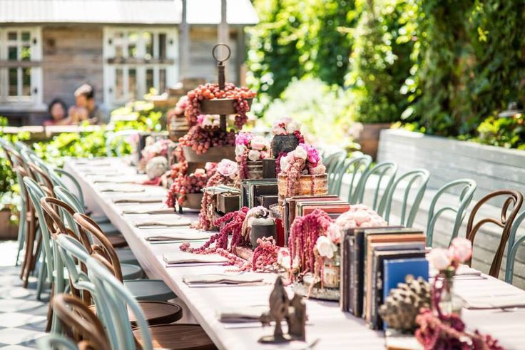 Gorgeous Set Up / Kitchen Tea / Rustic / The Grounds Of Alexandria / Grapes / Floral Arrangement / Books  Venue / The Grounds Of Alexandria Styling & Floral Design / Mary Mitry  Photography / G6K Photography Cakes / Trovatino Cafe / Hooray Mag / Wedded Wonderland