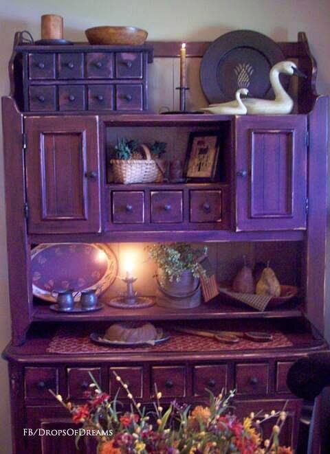 Vintage purple cupboard