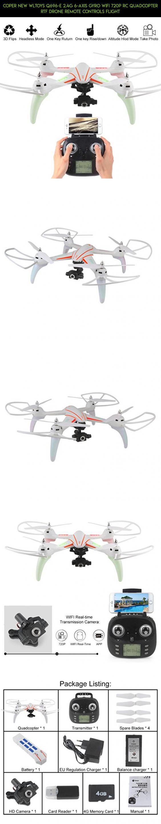 Coper New WLtoys Q696-E 2.4G 6-Axis Gyro Wifi 720P RC Quadcopter RTF Drone Remote Controls Flight #wltoys #plans #drone #technology #tech #gadgets #camera #fpv #q696 #products #parts #kit #shopping #racing