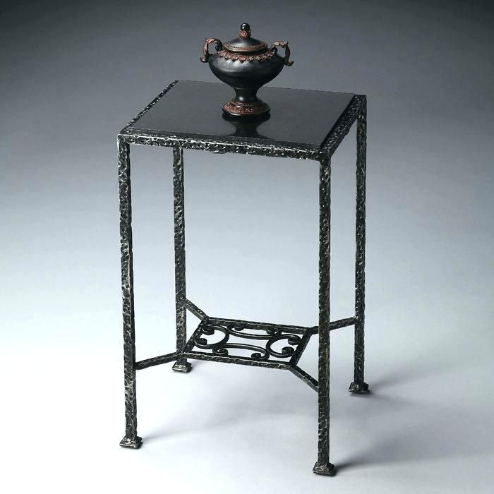 Black Wrought Iron Bedside Tables Side Tables Small Wrought Iron