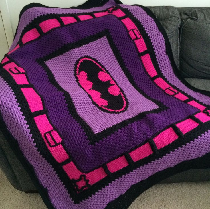 Knitting Pattern For Batman Blanket : 4737 best images about crochet on Pinterest Free pattern ...