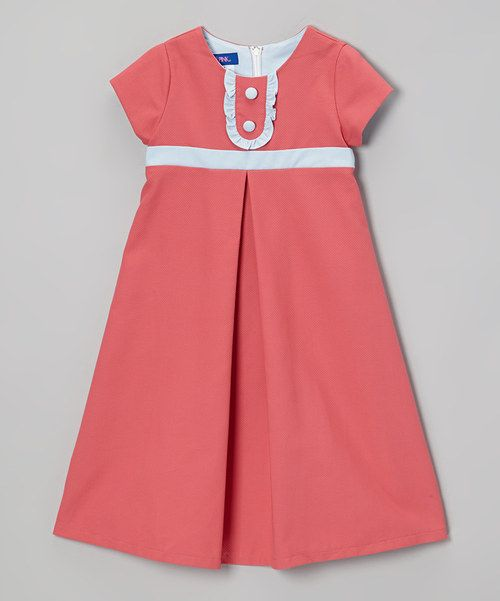 Take a look at this Pink Pique Ruffle Dress - Toddler & Girls on zulily today!