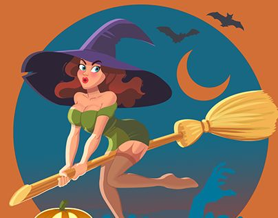 """Check out new work on my @Behance portfolio: """"Season of Witches and pumpkin!!!"""" http://on.be.net/1izp3HA"""