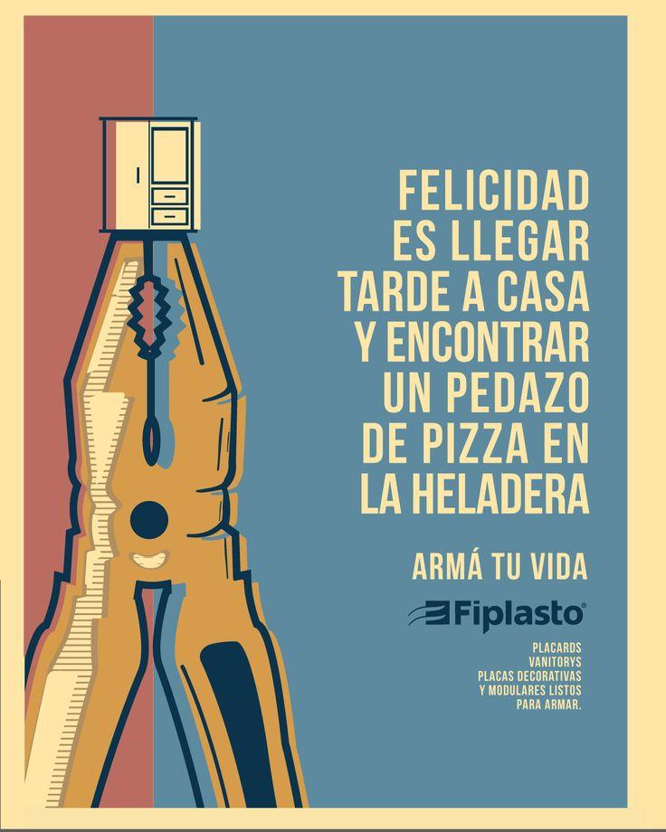 FELICIDAD! #PIZZA #casa  FIPLASTO ARMÁ TU VIDA  #armatuvida