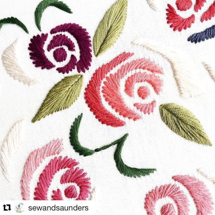 @sewandsaunders #handembroidery #needlework #ricamo #broderie #embroidery…