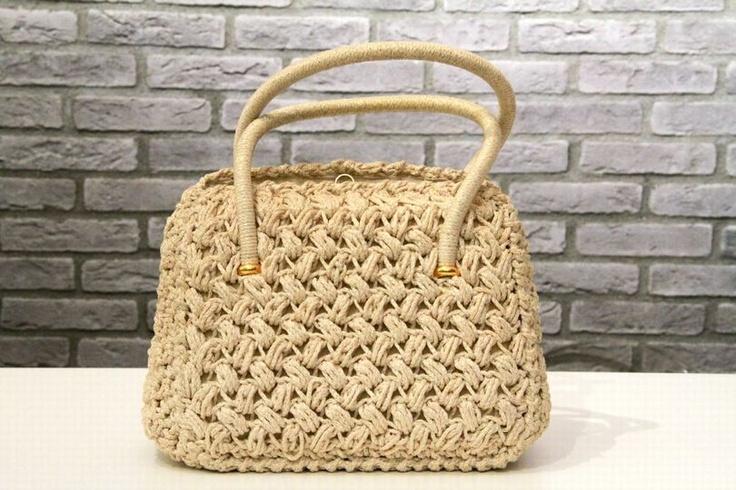 Cream cord vintage purse!