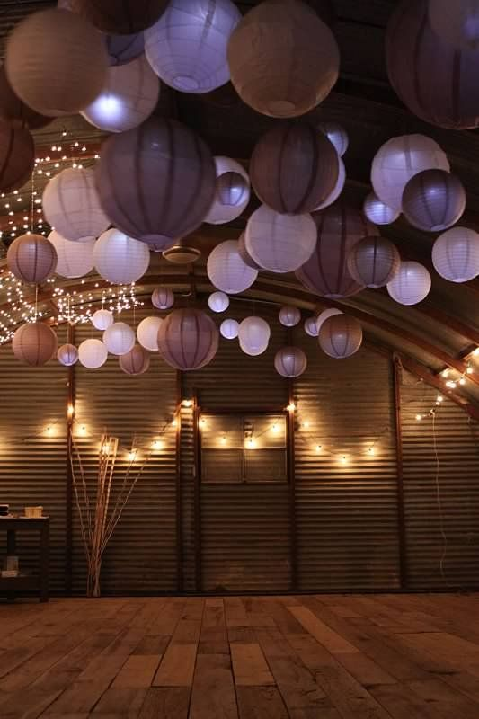 Mixing different shades of the same colour bring a soft, romantic feel to any venue: Lights Add, Unusual Lights, Dance Floors, Fairies Lights, Barns Decor, Colors Bring, Gorgeous Colour, Colour Combos, Colour Bring