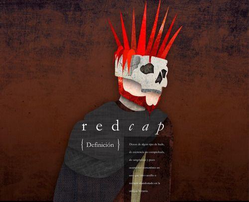 REDCAP: Criatura mitológica, estilo gráfico basado en un referente, creado para Laboratorio Layout, inacap apoquindo.