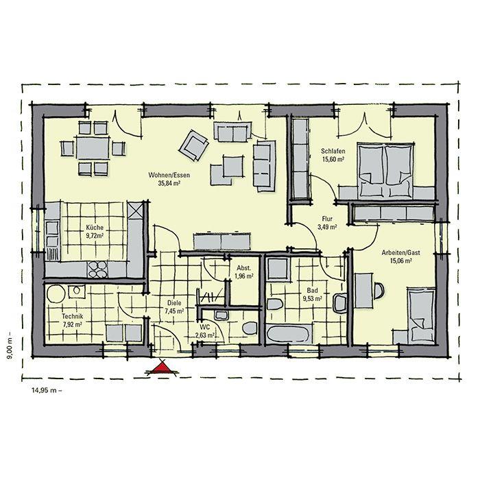 25 beste idee n over fertighaus bungalow op pinterest modern herenhuis villa en glasfassade. Black Bedroom Furniture Sets. Home Design Ideas