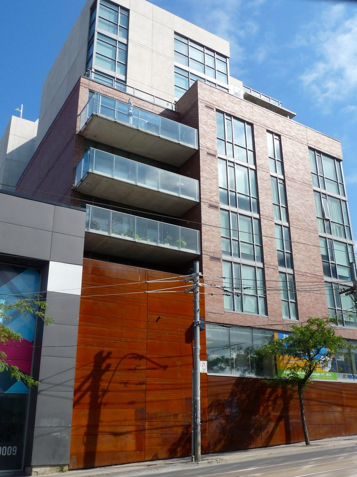 Location: 2 Gladstone Ave. Toronto, ON, M6J 0B2 Product: CorTen Steel Photographer: Ryan Brown #Corten #beauty #facades #steel #toronto #design #architecture