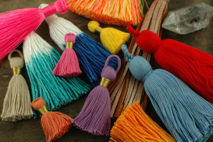 Tassel Mania. Everything in life gets better with tassels! // WomanShopsWorls is Tassel Headquarters! #tassels