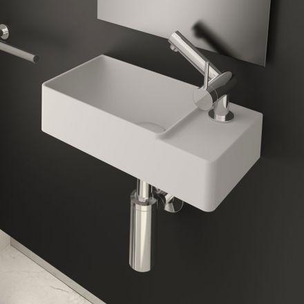 Lave main d'angle 40x20 cm, matière composite, Fancy
