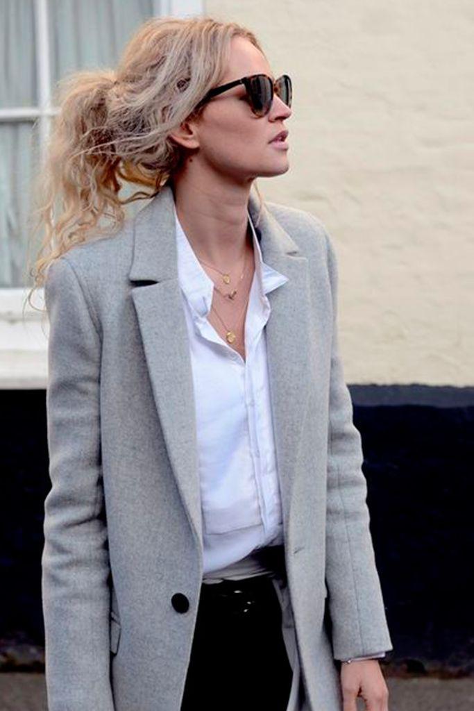 #basic #streetstyle #outfit #looks #basicos #inspiracion #inspiration #grey #coat