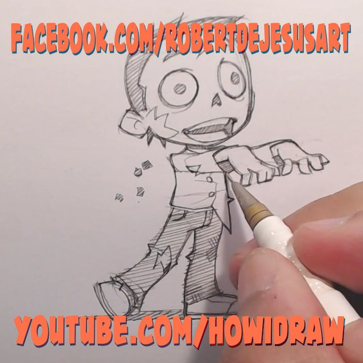 How I Draw A Chibi Zombie Entire Episode Can Be Found At My Youtube Channel How I Draw Zombie How In 2020 Zombie Illustration Cute Zombie 30 Day Drawing Challenge