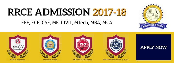 Engineering College Admissions 2017-18 @RRCE Bangalore Study in one of the Top 10 Engineering Colleges in Bangalore? Apply now. Courses: Civil, EEE, ECE, CSE,ME, ISE and Telecommunication Engineering, PG courses: MBA, MCA and MTech.
