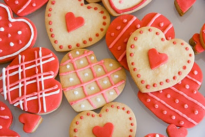 Xocolat and co: Galletas decoradas de corazón / Heart cookies