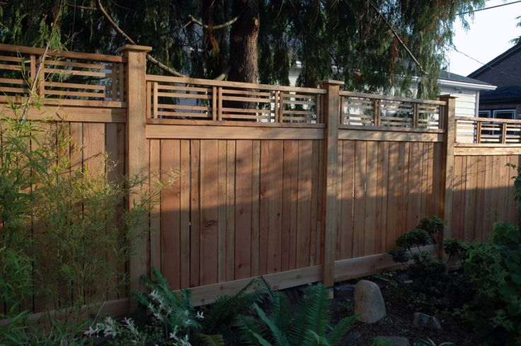 craftsman style fences and gates | One of the side sections. Deciding how and where to adjust the fence ...