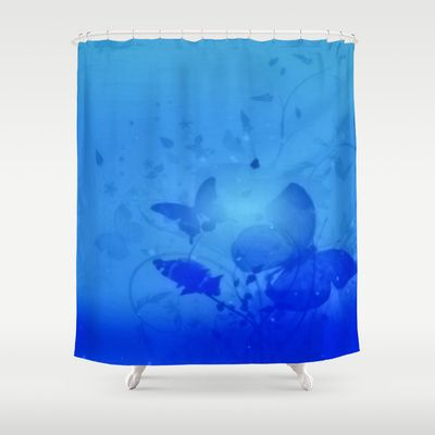 #Society6 - In the Deep Blue Shower Curtain by Elena Indolfi - $68.00