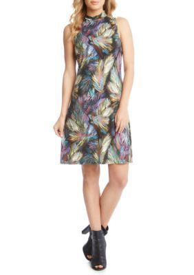 Karen Kane Women's Sleeveless Mock Neck Dress - Print - Xs