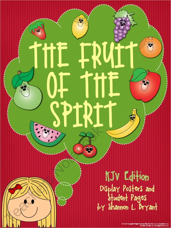 Fruit Of The Spirit KJV Edition Song Posters And Coloring Sheets 300
