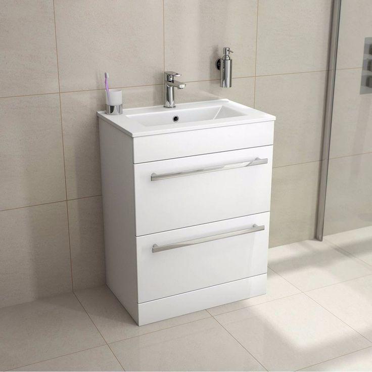Photo Gallery For Photographers VeeBath Sphinx mm White Gloss Vanity Unit With Ceramic Basin Sink Bathroom Storage Unit Furniture