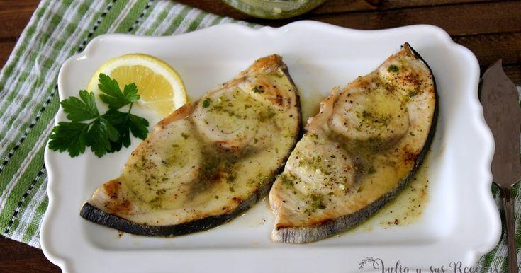 Emperador a la plancha con salsa de ajo-limón y perejil, Julia y sus recetas, recetas de emperador, pescados