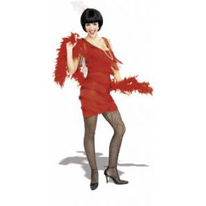 This Roaring red fringed Flapper Dress is perfect for 20's parties