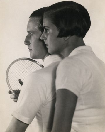Martin Munkácsi, Tennis player Gottfried Freiherr von Cramm and his wife Elisabeth, 1930