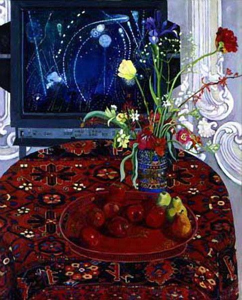 Apples painted on January 17th 1991  - Christiane Kubrick - https://christianekubrick.com/collections/medium-paintings/products/apples-painted-on-january-17th-1991