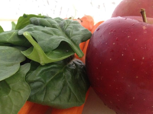 Carrot, Apple  Spinach