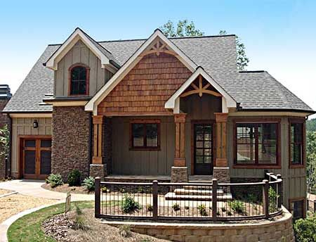 homes with stone and board and batting | Board and batten vs. shake siding- opinions needed