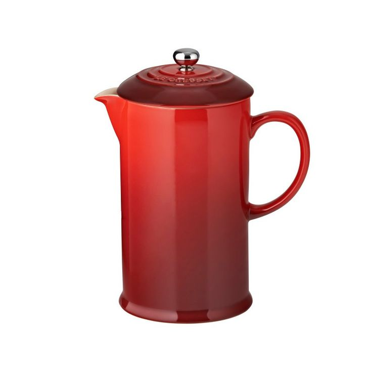 Cafeteira Francesa Le Creuset Vermelha - 800ml :: Delgrani.com.br