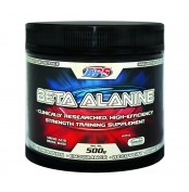 APS Beta Alanine 500g  APS Beta Alanine 500g increases muscular endurance by delaying the onset of muscle fatigue. It helps maximise your workout performance and intensity.  Supplementation with Beta Alanine is able to increase the lactate threshold. Carnosine helps stabilise muscular pH by soaking up H+ that are released at an accelerated rate during exercise.   For more info visit: http://www.gymandfitness.com.au/aps-beta-alanine-500g.html