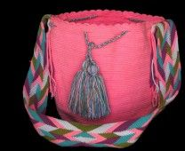 LIGHT PINK  WAYUU BAG – SOLID  # 8 #Handbags #crochetPatterns #backpack #boho #fashion #Mochila #Bolsa #Yoga #Crochet #Knit #yarn #moda #mode #handbag #streetstyle #bucketbag #LaGuajira #crochet #bagbeach #style #artesanias #indigenous #wayuupeopple