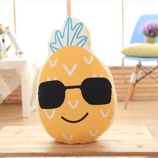 40 cm/60 cm gözlük Meyve Yastık Yastık Komik Karpuz ananas Peluş Oyuncaklar Bebek Kanepe araba Doğum Günü düğün Ev Pillowcushion