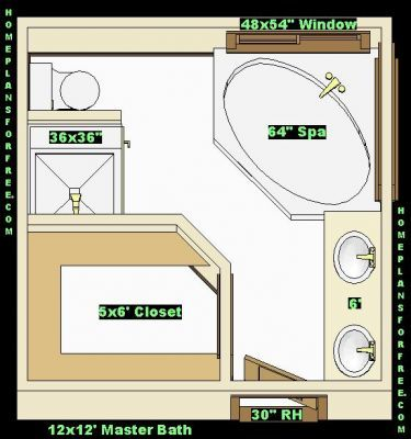 12 x 12 master bath with walk in closet with shower no tub master baths 12x12 free ideas Master bedroom bathroom layout