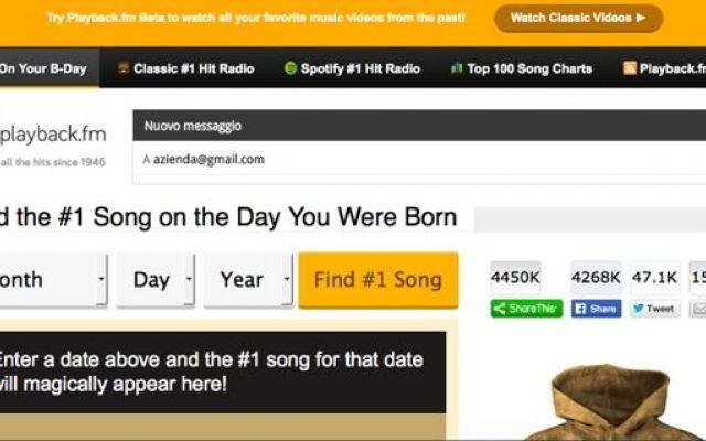 Un sito svela la canzone numero 1 il giorno della tua nascita #canzone #sito #internet