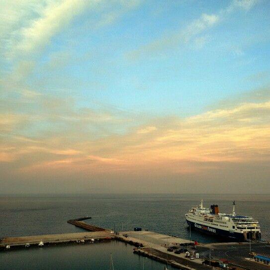 Rafina. A port in spring.
