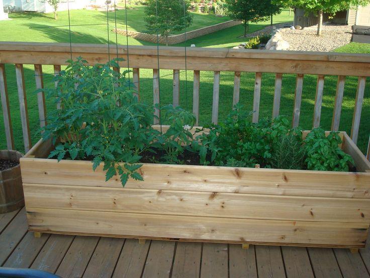 Vegetable Garden Planters, Deck Vegetable Garden