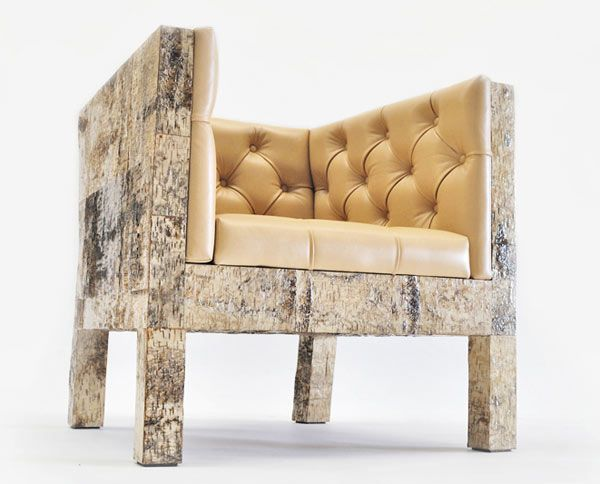 Werner Neumannu0027s Ostentatious Organic Birchwood Furniture Collection